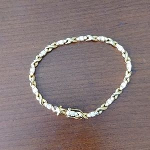 Gold plated bracelet with CZ